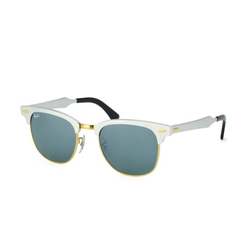 Clubmaster Aluminium Grey Mirror Sunglasses RB3507 137/40