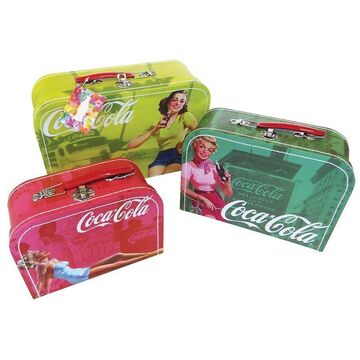 Coca-Cola Vintage Pin Ups Nesting Storage Cases (Set of 3)