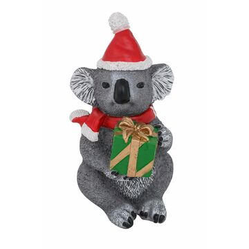 Christmas Australia Koala with Present Figure 13cm