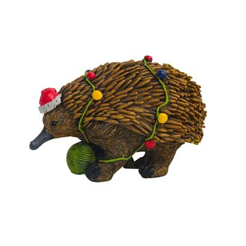 Australian Echidna with Christmas Lights Figure 14cm