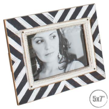 DWBH Zebra Print Wooden Photo Frame 5x7