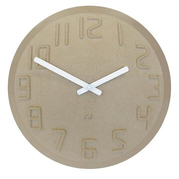 IS Time Pulp Wall Clock - Natural and White