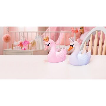 IS Gift Illuminate Pink and White Swan Led Light