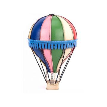 Diecast Metal Small Multicolour Hot Air Balloon Decoration