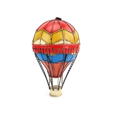 Diecast Metal Medium Red & Yellow Hot Air Balloon