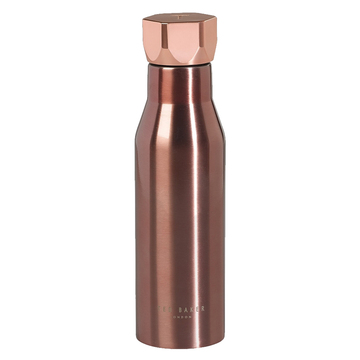 Rose Gold Water Bottle with Hexagonal Lid