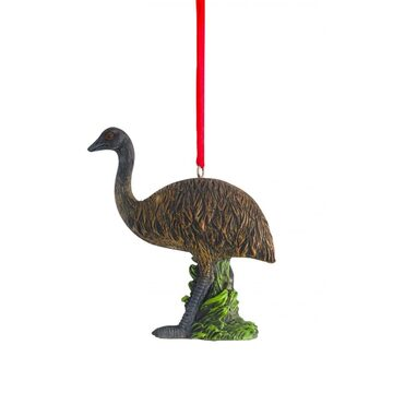 Australian Christmas Emu Hanging Figure 8cm (Set of 2)
