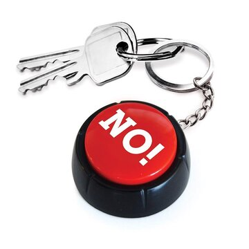 IS Gift The NO! Button Keyring