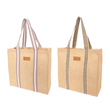 Academy Coated Jute Grocery Tote Bags